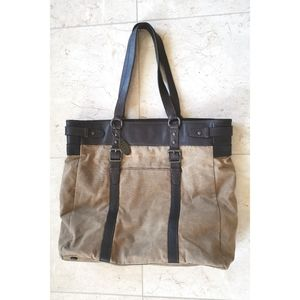 Fossil Tote very sturdy bag canvas leather